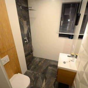 widok z góry łazienki